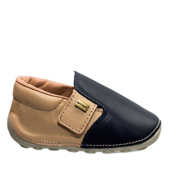 bcf96d27a90 Sapato Bebê Ortopé Primeiros Passos - Marinho - Compre Agora