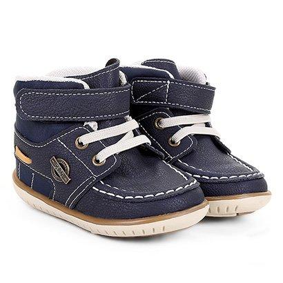 Sapato Infantil Klin Cravinho Cano Alto Masculino