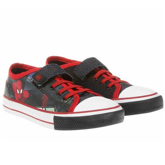 2f75f062f3 Tênis Homem Aranha Velcro e Elástico - Preto+Vermelho