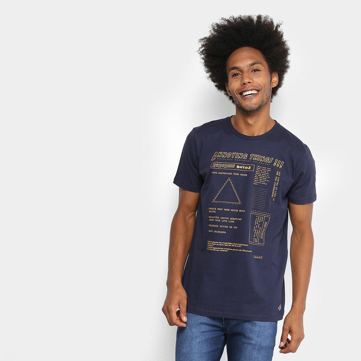 5a71b9ee9a Camiseta Manga Curta Colcci Estampada Masculina. undefined