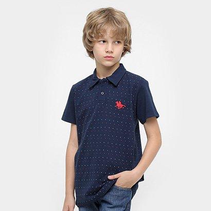Camisa Polo RG518 Poá Infantil