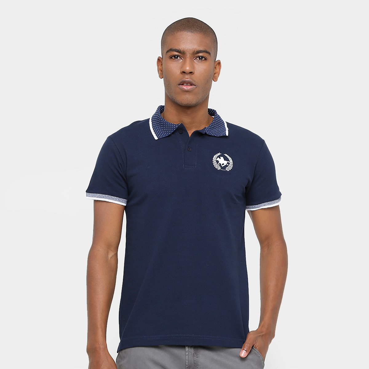 2c7489c0db067 Camisa Polo Rg 518 Gola Poá Masculina