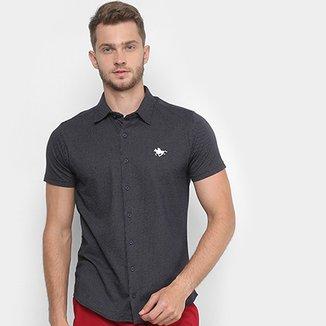 7c049bbf8e Camisa Manga Curta Polo RG 518 Pontilhada Logo Masculina