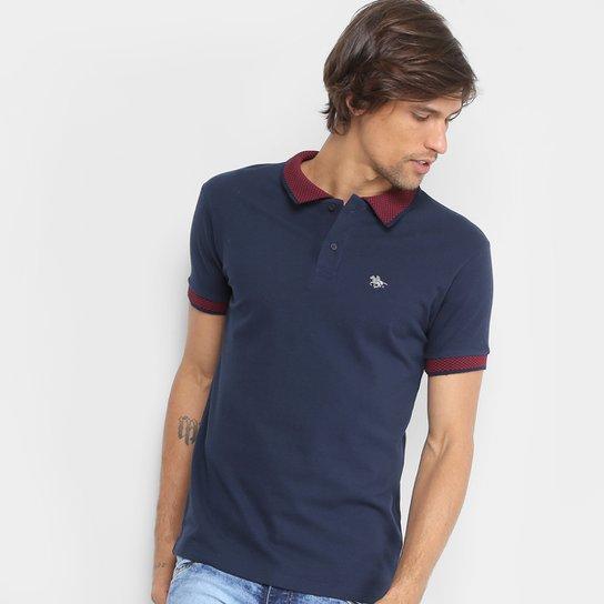 Camisa Polo RG 518 Lisa Gola Quadriculada Logo Metalizada Masculina -  Marinho 48f07df67a0b2