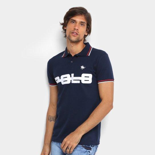 Camisa Polo RG 518 Piquet Bordado Masculina - Marinho - Compre Agora ... 66ad0b4a80504