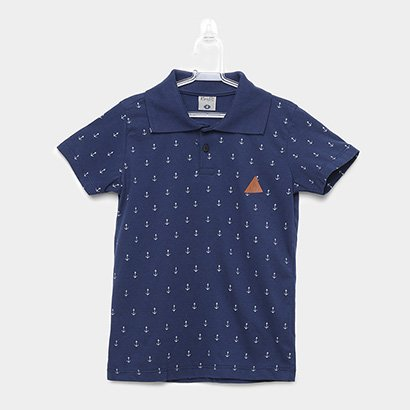 Camisa Polo Infantil Kamylus Gola Retilínea Masculina