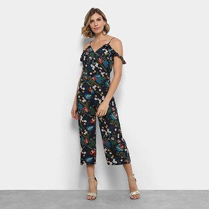 Macacão Longo Lily Fashion Open Shoulder Feminino