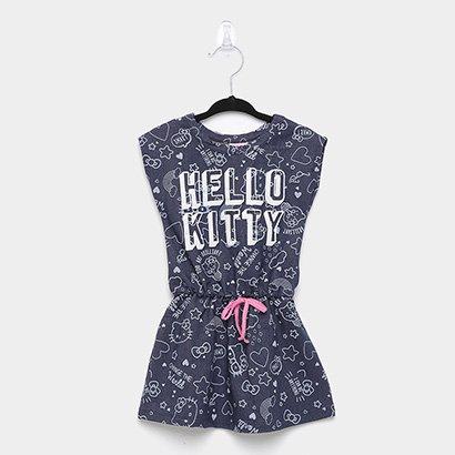 Vestido Infantil Hello Kitty Estampado Amarração I