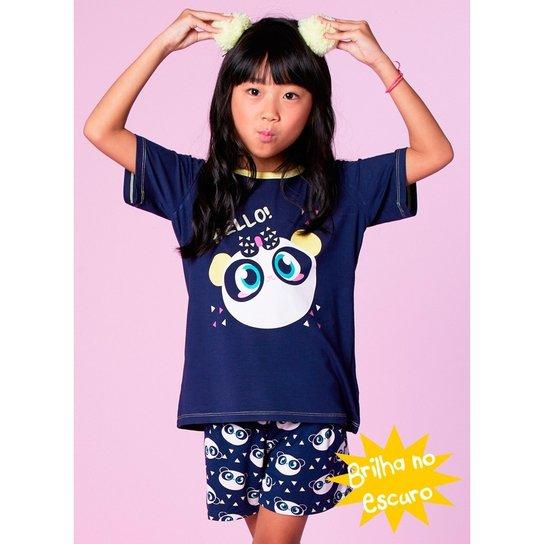 fa1f457f7c Pijama Infantil Puket Curto Panda Visco - Compre Agora