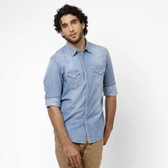 2e74e7c0a0 Camisa Jeans Richards Bolso - Compre Agora