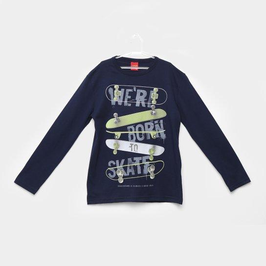 871a553c30 Camiseta Kyly Manga Longa Skate Masculina - Marinho - Compre Agora ...
