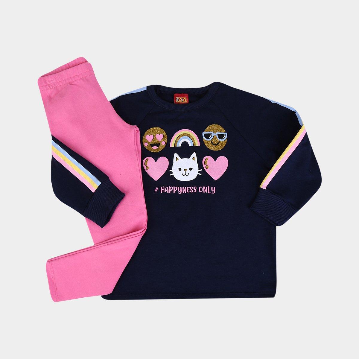 Conjunto Infantil Kyly Blusa + Legging Cotton Emotions