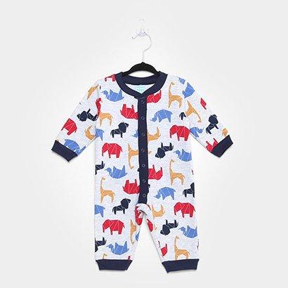 Pijama Infantil Macacão Kyly Moletom Peluciado Baby Masculino