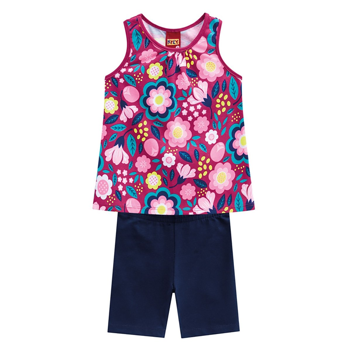 Conjunto Infantil Kyly Floral Feminino
