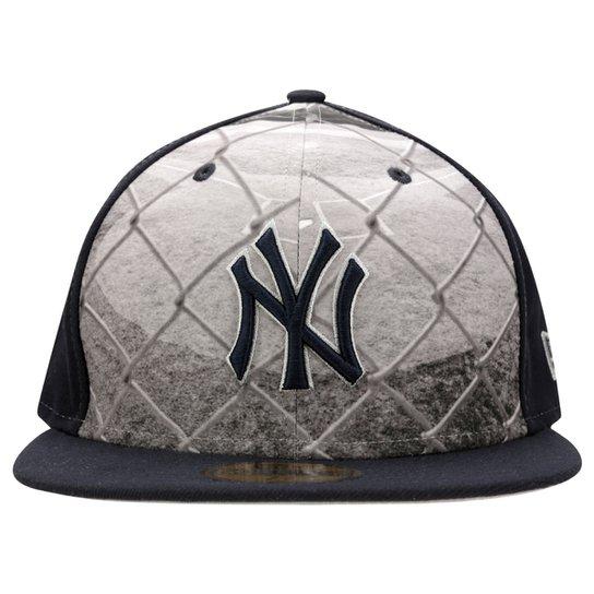 b02cdd1292c0e Boné New Era 5950 MLB Round Dway New York Yankees - Compre Agora ...
