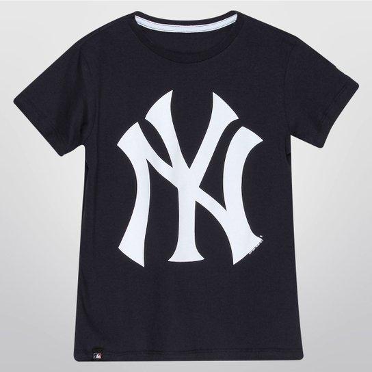 e545459cc980d Camiseta New Era New York Yankees Infantil - Marinho - Compre Agora ...