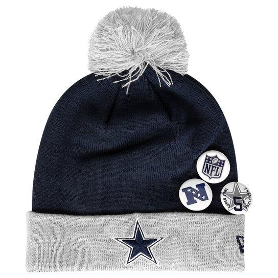 26b04fe93a292 Gorro New Era NFL Pom Status Pin Dallas Cowboys - Compre Agora ...