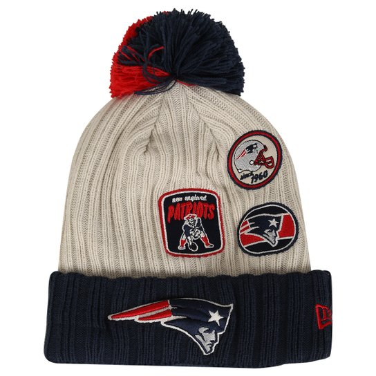 Gorro New Era NFL Pom Vintage Knitter New England Patriots - Compre ... f733b4862a4