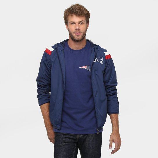 Jaqueta New Era NFL Windbreaker New England Patriots C  Capuz - Marinho 547bee92171f4
