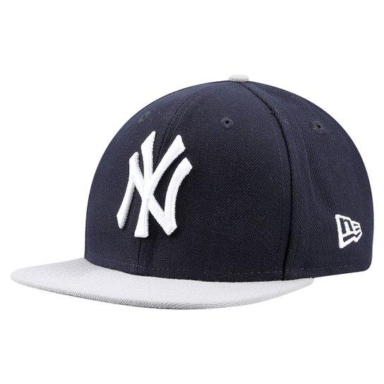 Boné New Era 950 MLB Original Fit New York Yankees Juvenil - Marinho+Branco 626cafabbad
