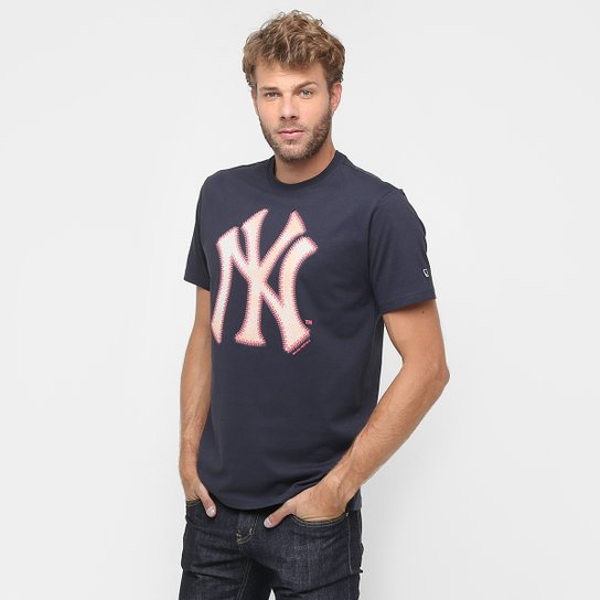 407ce269d1848 Camiseta New Era MLB Nac Ball Baseball New York Yankeers - Marinho ...