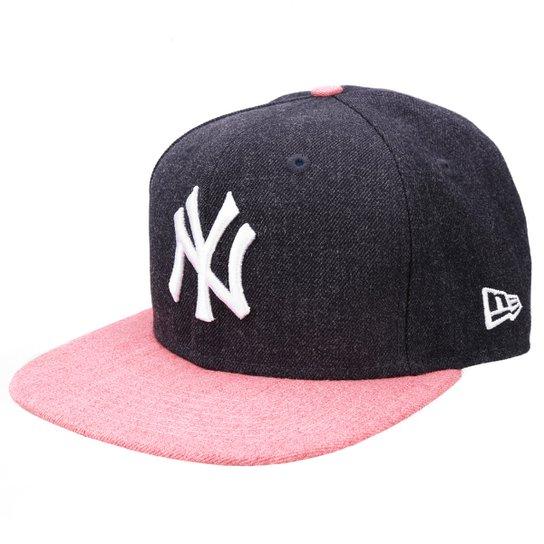 Boné New Era MLB 950 Of Sn Heather Act Snap New York Yankees - Marinho+ d08c44789b2