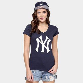 b976d58d4c Camiseta New Era MLB Babby Look New York Yankees Feminina