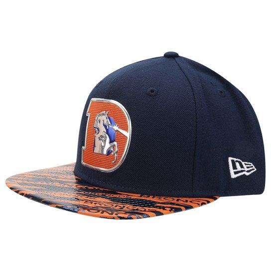 9f7fe6189e9da Boné New Era NFL 950 Of Sn Metalic Leather Denver Broncos - Compre ...