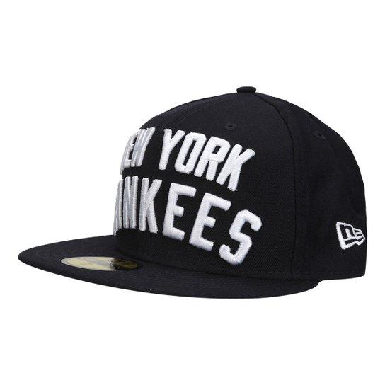 84c246f26ff75 Boné New Era MLB 5950 Word Stitch New York Yankees - Compre Agora ...