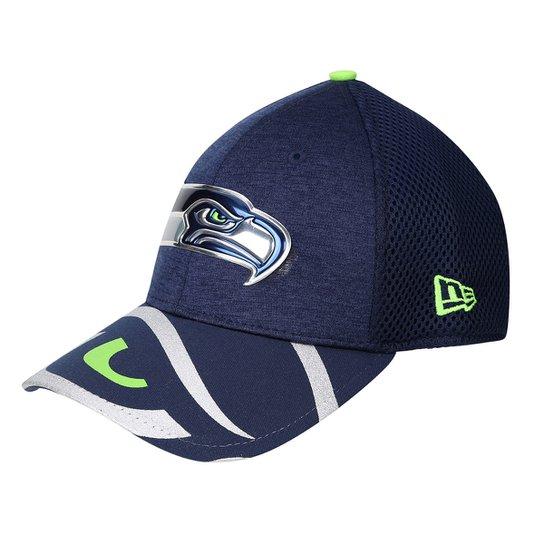 Boné New Era Seattle Seahawks Aba Curva 3930 Masculino - Marinho+Verde Limão 1dbcbbee2fd