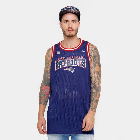 Camiseta Regata New Era NFL New England Patriots Sports Rib Masculina -  Marinho 665794789d8