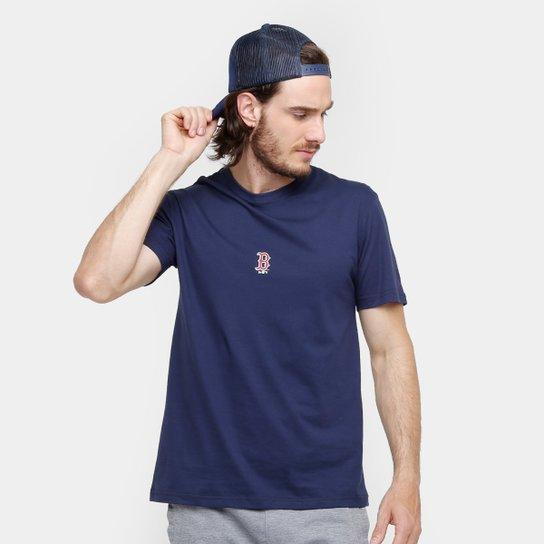 Camiseta MLB New Era Boston Red Sox Basic Bosred Masculina - Marinho ... d9d3c2174d9