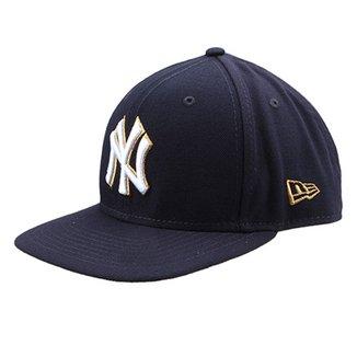 Boné New Era MLB New York Yankees Aba Reta Gold City cddecf44877