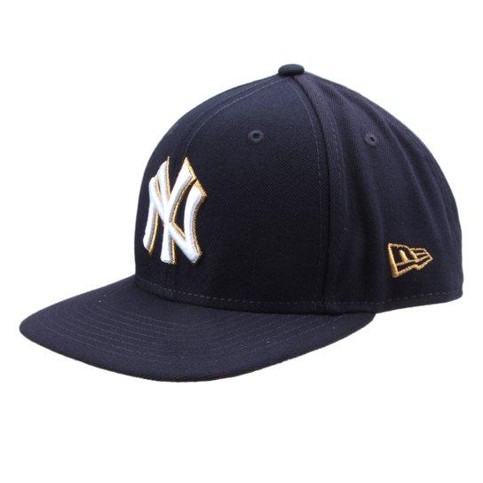 Boné New Era MLB New York Yankees Aba Reta Gold City - Compre Agora ... 2adb6f65c35
