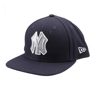 0169f2ec6d2a9 Boné New Era MLB New York Yankees Aba Reta Flash