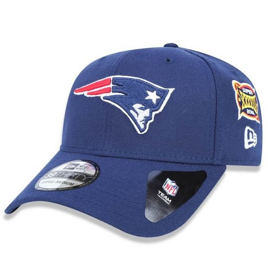 Boné New England Patriots 3930 5x Champion Azul - New Era - Marinho ... 0402d0ccf41cd