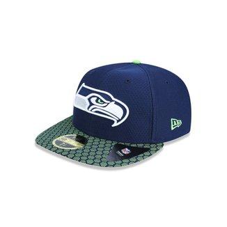 Boné 5950 Seattle Seahawks NFL Aba Reta New Era d8785e4453d