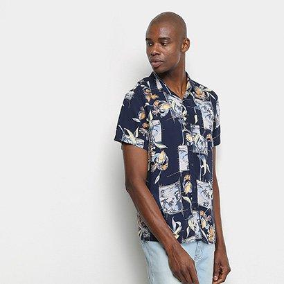 Camisa Manga Curta Pacific Blue Beach Masculina