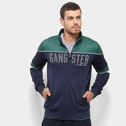 Jaqueta Gangster Authentic Bicolor Masculina
