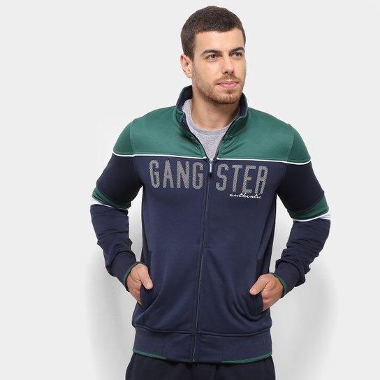 127372c6d Jaqueta Gangster Authentic Bicolor Masculina - Marinho - Compre ...