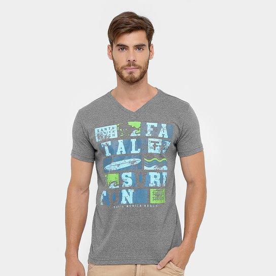 20233513c4 Camiseta Fatal Gola V Estampada - Compre Agora