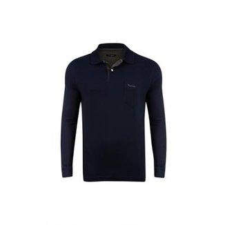 bf1ddcd33e Camisa Polo Pierre Cardin Jacquard Masculina