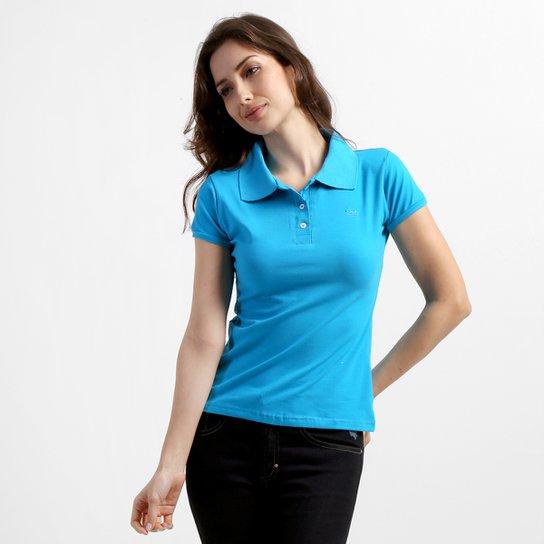 7791c64dc1 Camisa Polo Colombo Lisa - Azul