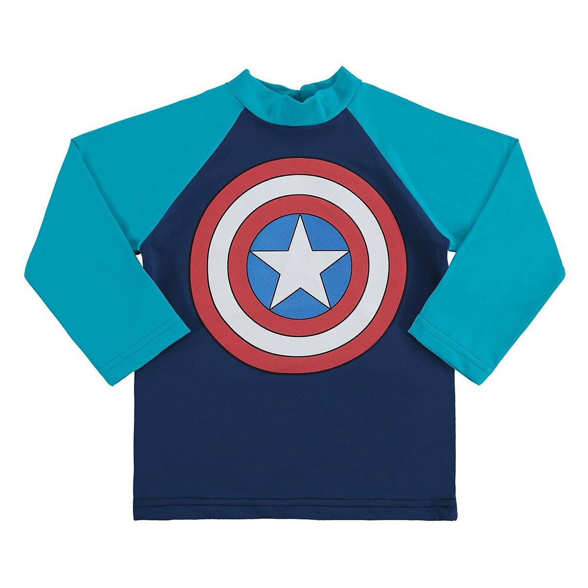 Camiseta Bebê Marlan Proteção UV Marvel Vingadores Masculina