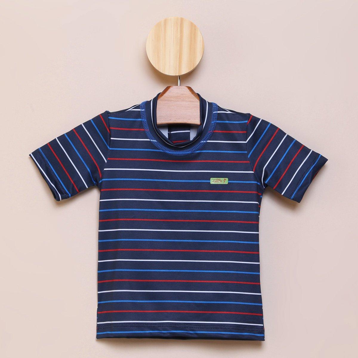 Camiseta de Praia Bebê Boca Grande Proteção UV 50+ Masculina