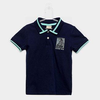a46b6fd55 Camisa Polo Infantil Milon Estampa Marinheiro Masculina