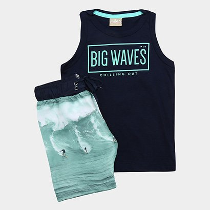 Conjunto Infantil Milon Big Waves Masculino