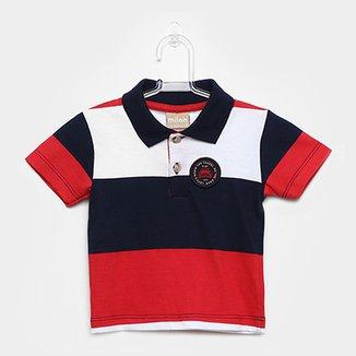 22cafc4a6b Camisa Polo Infantil Milon Estampa Listrada Masculina