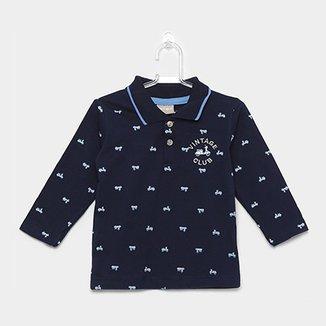 2d95a86368 Camisa Polo Infantil Milon Manga Longa Masculina