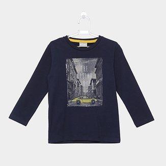 58cdae986ca12 Camiseta Infantil Milon Manga Longa Estampada Masculina